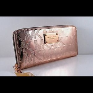 1e08fe1dca68 Michael Kors Bags - NWT-MICHAEL KORS ROSE GOLD MIRROR METALLIC WALLET