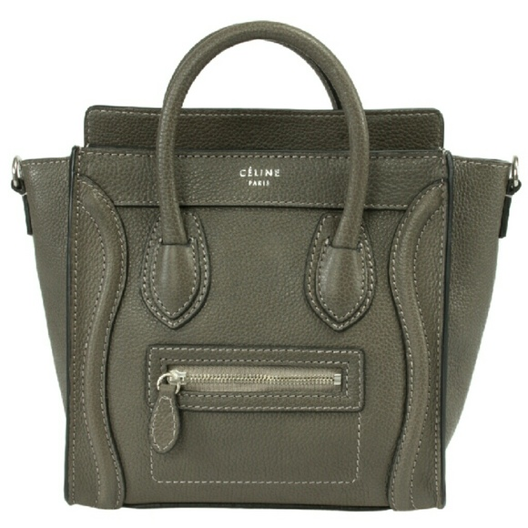 e8892d7df102 Celine Nano Luggage Leather Tote Bag