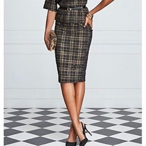 bobeau Dresses & Skirts - $45 🆑Black and Gold Everything Party Office Skirt
