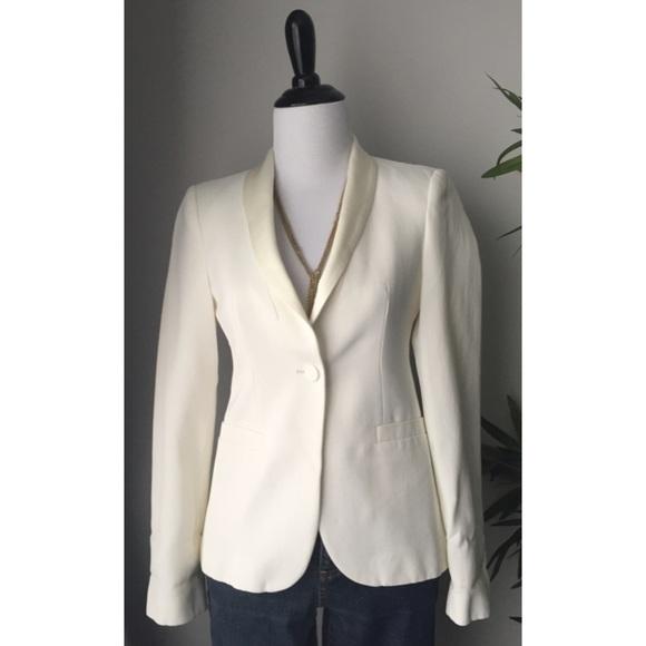 Zara Textured Blazer w/ Satin Lapels