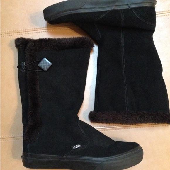 92708815b1 VANS black suede fur-trim boots. M 585af991713fde5774016b7b
