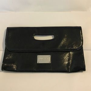 Black Nine West Patten Leather Clutch Purse