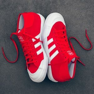 Adidas Other - Adidas Matchcourt Mid Red mid-high top mens size 9