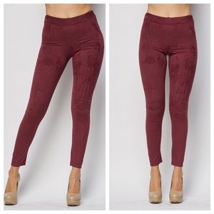 1 HOUR SALE!! Plum Suede Leggings
