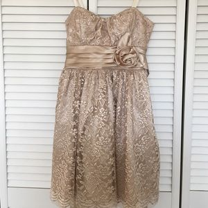 Nordstrom Dresses & Skirts - sparkly champagne formal homecoming dress
