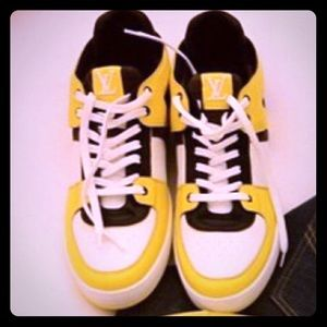 "Louis Vuitton Other - Authentic Louis Vuitton yellow ""The Ace"" Sneaker"