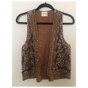 Sequined/Beaded Vest From Urban Outfitters