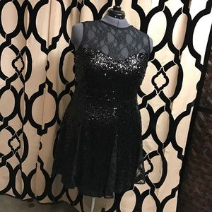 Host Pick!!! ASOS Curve Black Sequin & Lace Dress