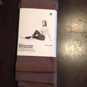American Apparel Accessories - AA fawn plush FOOTLESS tight! Fleece!!