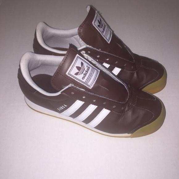 brown white samoa adidas