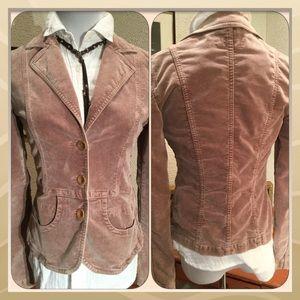 Closed Jackets & Blazers - Stonewashed Designer Velvet Blazer