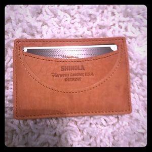 Shinola Handbags - Shinola card wallet