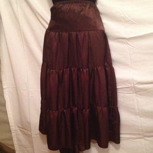 Copper Key Dresses & Skirts - Copper Key Brown Silk Like Skirt L☝🏻️😉🚨🌹🎁