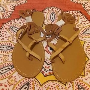 Charlotte Russe Shoes - Strappy Ankle Tie Up Sandals
