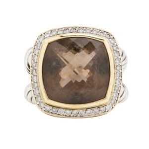 David Yurman Jewelry - David Yurman Smoky Quartz and Diamonds 18k Gold