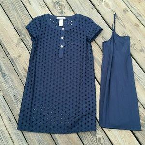 Laundry by Design Dresses & Skirts - LBD LAUNDRY BY DESIGN NAVY EYELET DRESS w/ SLIP