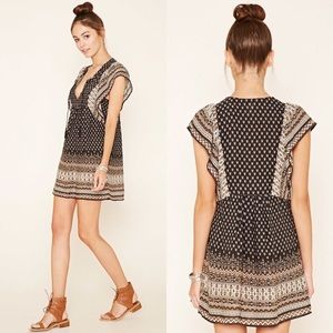 FOREVER 21 Ornate Peasant Dress