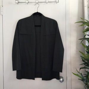 COS Jackets & Blazers - COS Dark Gray Charcoal Sleek Blazer Jacket - 36 S