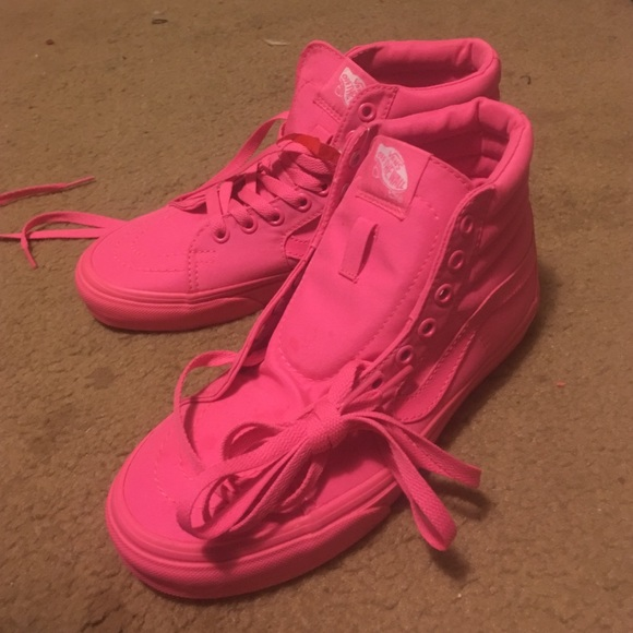 1b8e38f496b766 Vans Shoes - Hot Pink High-Top Vans