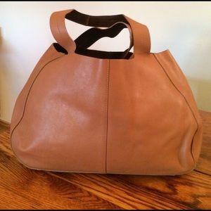 Calvin Klein Collection Handbags - Calvin Klein Collection Brown Leather Tote