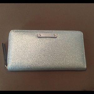 Kate Spade Silver Glitter Neda Wallet
