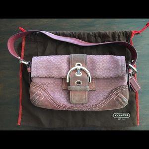 Coach Handbags - Coach soho mini signature flap shoulder bag OBO