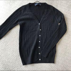 Zara Cable Knit Black Cardigan