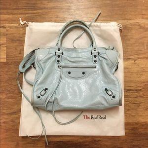 Balenciaga Handbags - Agneau Classic City Bleu Dragee
