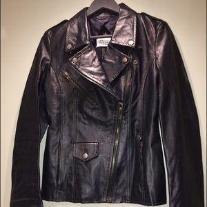New! Maison Martin  Margiela Biker Leather Jacket