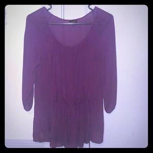 Tops - Sheer purple Talbots blouse