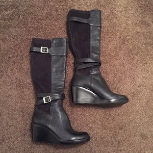 Cole Haan Shoes - Cole Haan (Nike Air) Patricia Wedge Boot Black