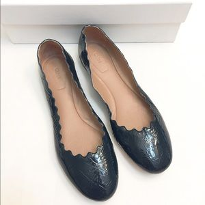 Chloe Shoes - 🆕NIB Chloe patent leather waves ballerina flats