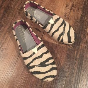 TOMS Shoes - Toms Zebra Canvas Slip On