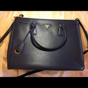 Prada crossbody/ double handle bag
