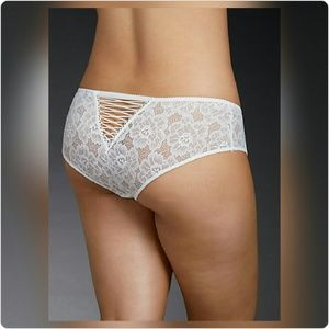 Just In! NWT Lace Up Back Lace Hipster Panty