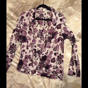 White and purple jacket blazer