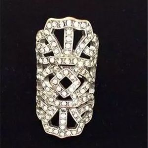 Jewelry - CRYSTAL MARQUISETTE STYLE RING ABOUT SIZE 6