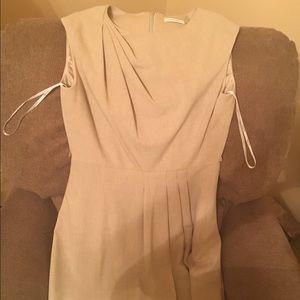 A beige Calvin Klein dress!
