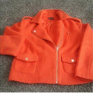 sister jane Jackets & Blazers - Sister Jane Orange Moto Wool jacket