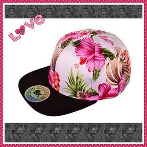 Flat Bill Floral SnapBack Hat,   nwot