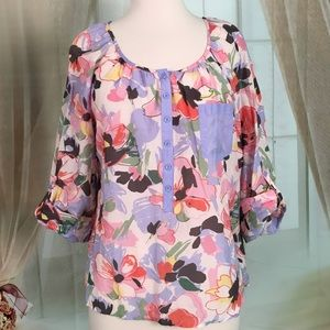 H&M Multi Colored Long Sleeved Blouse