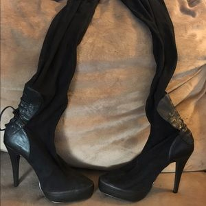 Thigh high style platform boots