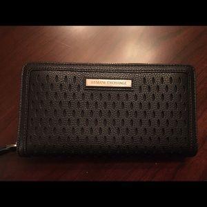 Armani Exchange zip around wallet