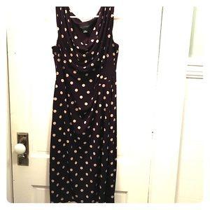 Purple Polka Dot Drape Dress Size 14