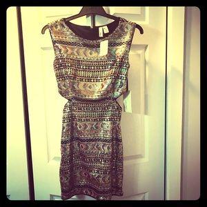 NWT Sequin cutout dress.
