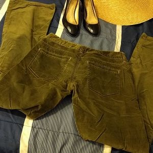 Army Green Velvet Pants