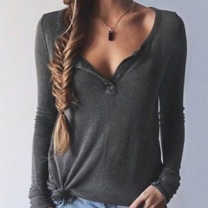 Tops - Gray T shirt
