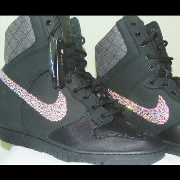 Bling Nike boot wedges Size10 c6876a4cd
