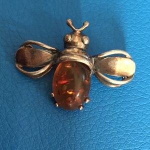 Baltic Amber Bee Broach