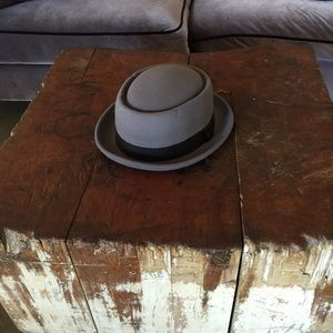 Pork Pie Walter White Fedora Hat Gray L/XL